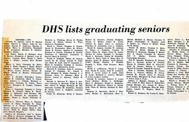 Herald Graduating Senior List